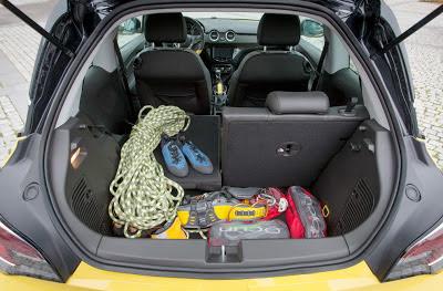 Portbagajul la noul Opel Adam