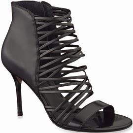 Arezzo verão sandálias de couro cor preto