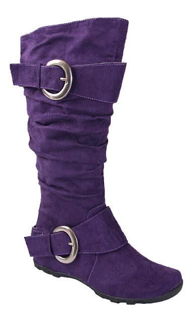 Suede Boots Purple