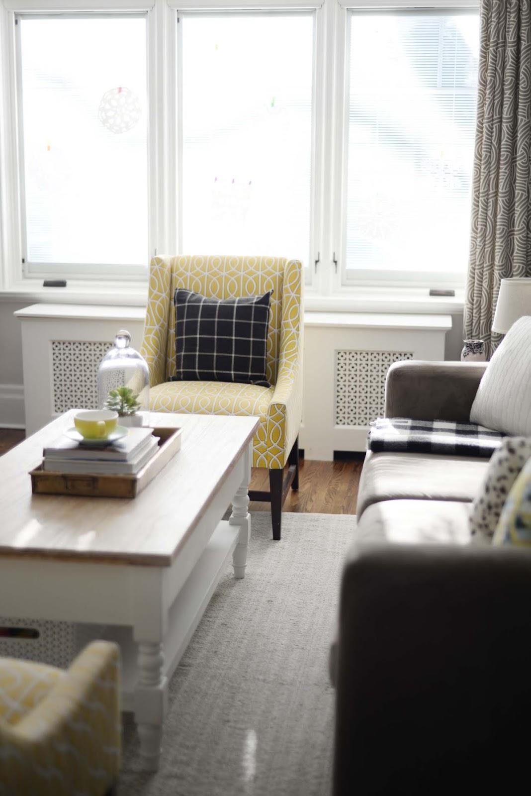 Wayfair Winter Refresh | Living room windows | Dwell Studio Gate chair | RamblingRenovators.ca