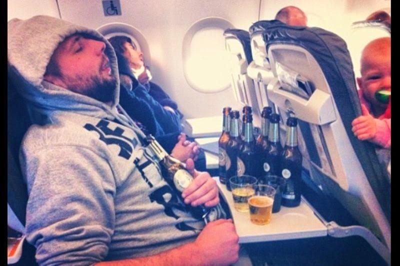 Como relaxar no vôo