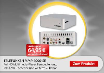 Full-HD-Multimediaplayer Telefunken MMP 4000 bei MeinPaket für 62,96 Euro