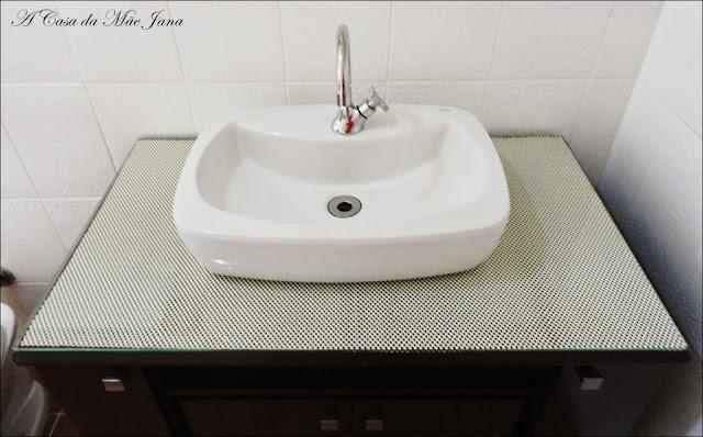 A Casa da Mãe Jana Reformando o banheiro -> Armario De Banheiro Que Encaixa Na Pia