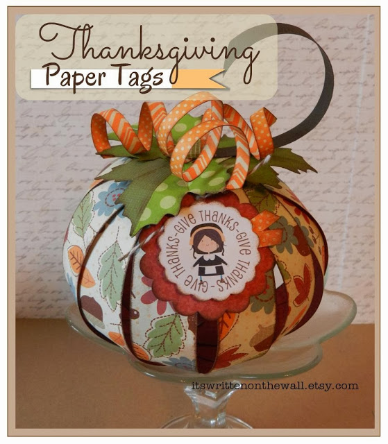 Easy, but Beautiful Paper Pumpkins-Thanksgiving/Halloween