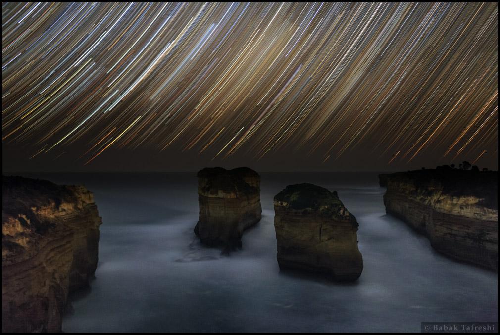 Bức tranh được vẽ bởi các vì sao. Tác giả : Babak A. Tafreshi.