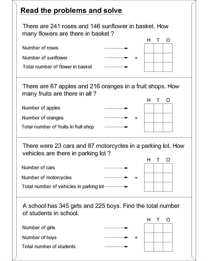 Worksheet Addition Word Problem addition problem solving year 4 limited time offer buy it now