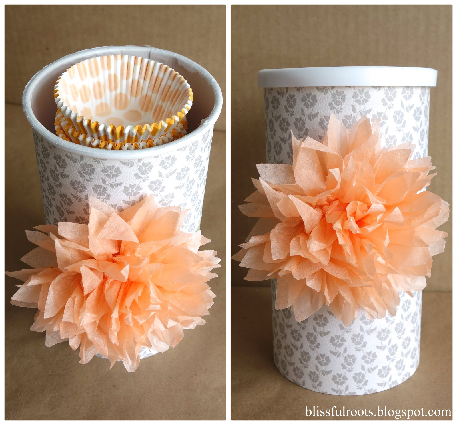 Blissful Roots Diy Cupcake Liner Organizer