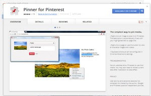 Pinner - A Pinterest extension for Google Chrome