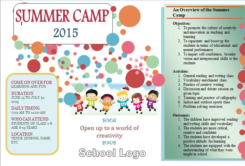 short essay on summer camp