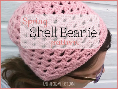Spring Shell Beanie Crochet PATTERN Instant Download from Etsy