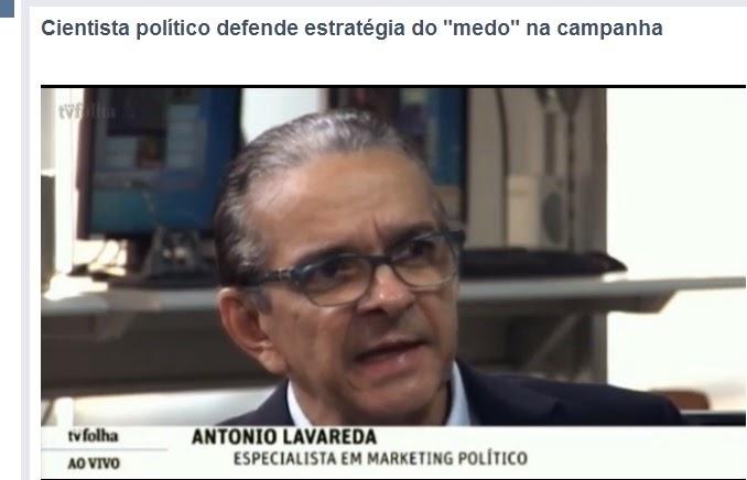"""VÍDEO: Cientista Politica afirma que o """"medo"""" é utilizado como estrategia de campanha"""