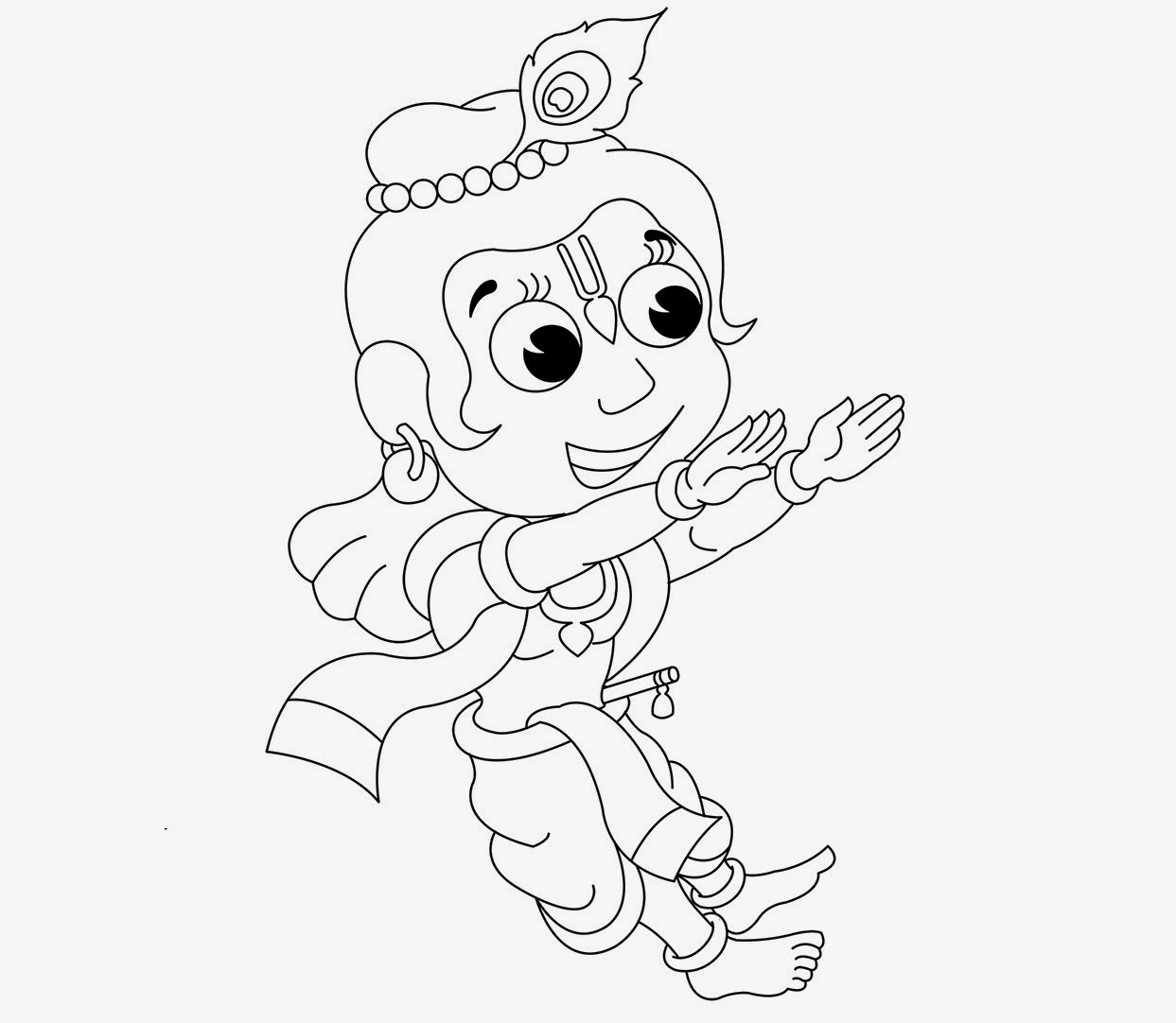 Little Krishna For Kid Coloring Drawing Free wallpaper