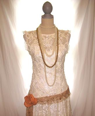 Gatsby fishtail party wedding dress medium size 8