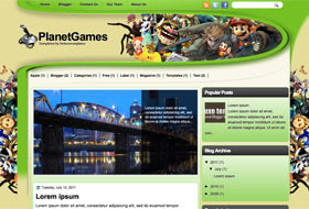 PlanetGames Blogger Template