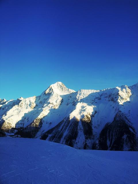 Sicht auf Bietschhorn von Lauchernalp aus