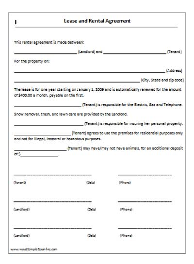 Vehicle Contract Template The Vehicle Lease Agreement Templates – Auto Contract Template