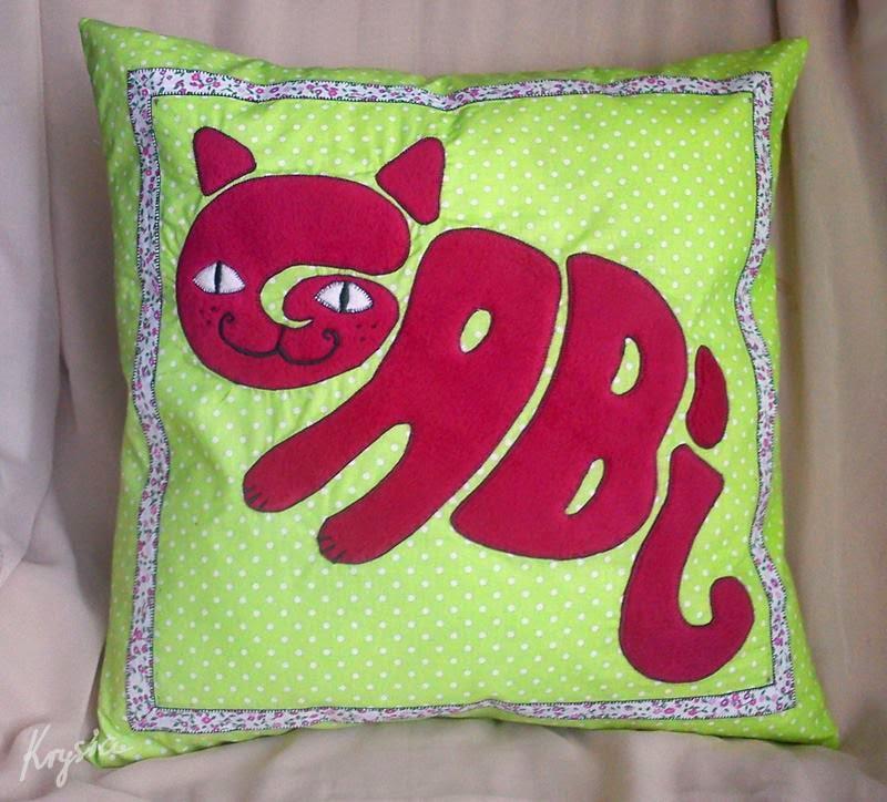 poduszko poszewka z kotkiem