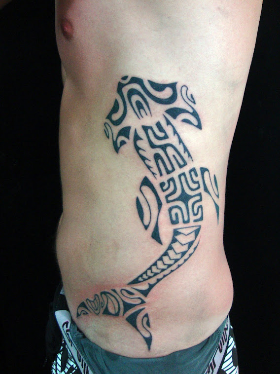 Polynesian shark Tattoo