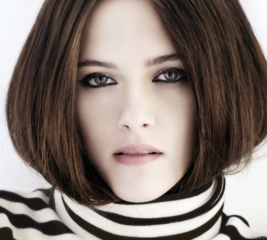 short hairstyle for dark ash brown hair