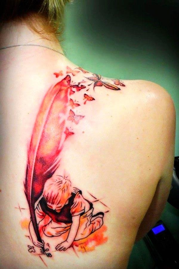 Fun tattoo idea on shoulder