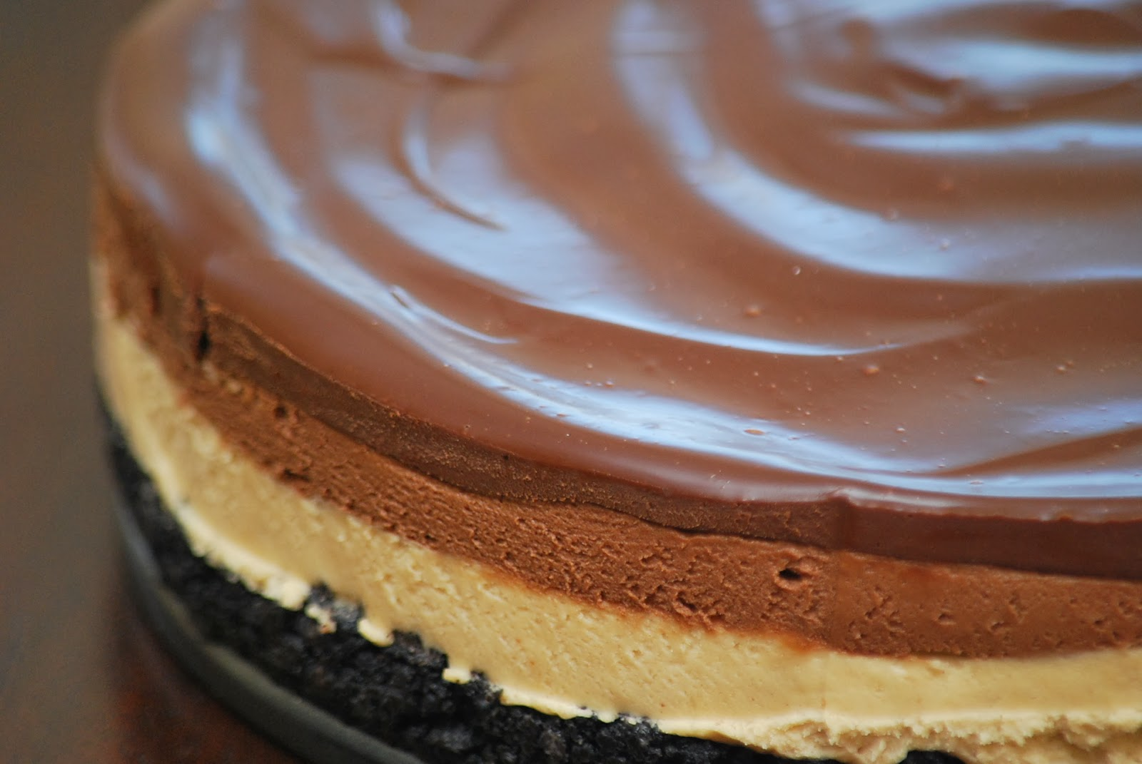 My story in recipes: Chocolate and Peanut Butter Mousse Cheesecake