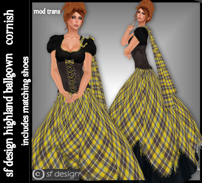 BALL GOWN | sf design: In Cornish tartan ✫ღ⊰n | Cornish ball ...