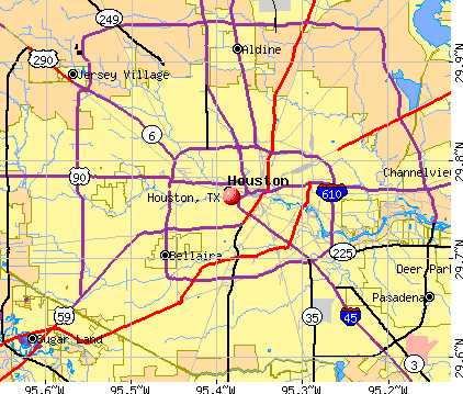 Houston City Map Submited Images