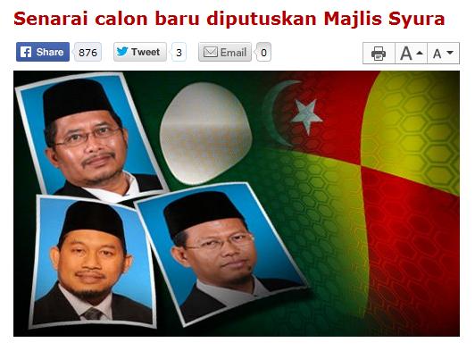 Zawawi dinasihat tidak menipu rakyat Malaysia guna nama Majlis Syura oleh Blogger PAS