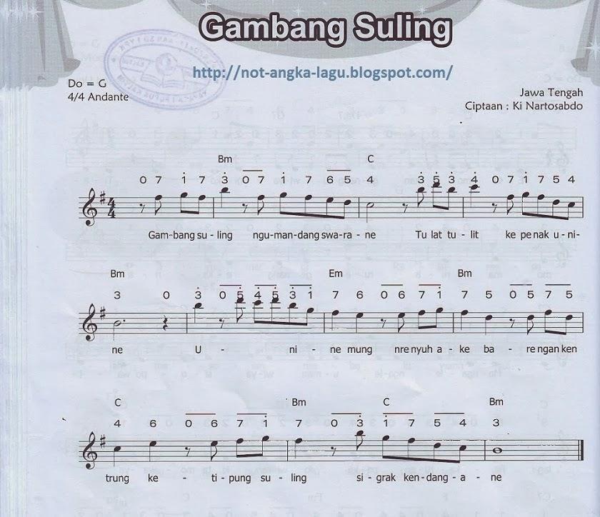 Not Angka Lagu Apuse Kumpulan Not Angka Lagu | newhairstylesformen2014 ...