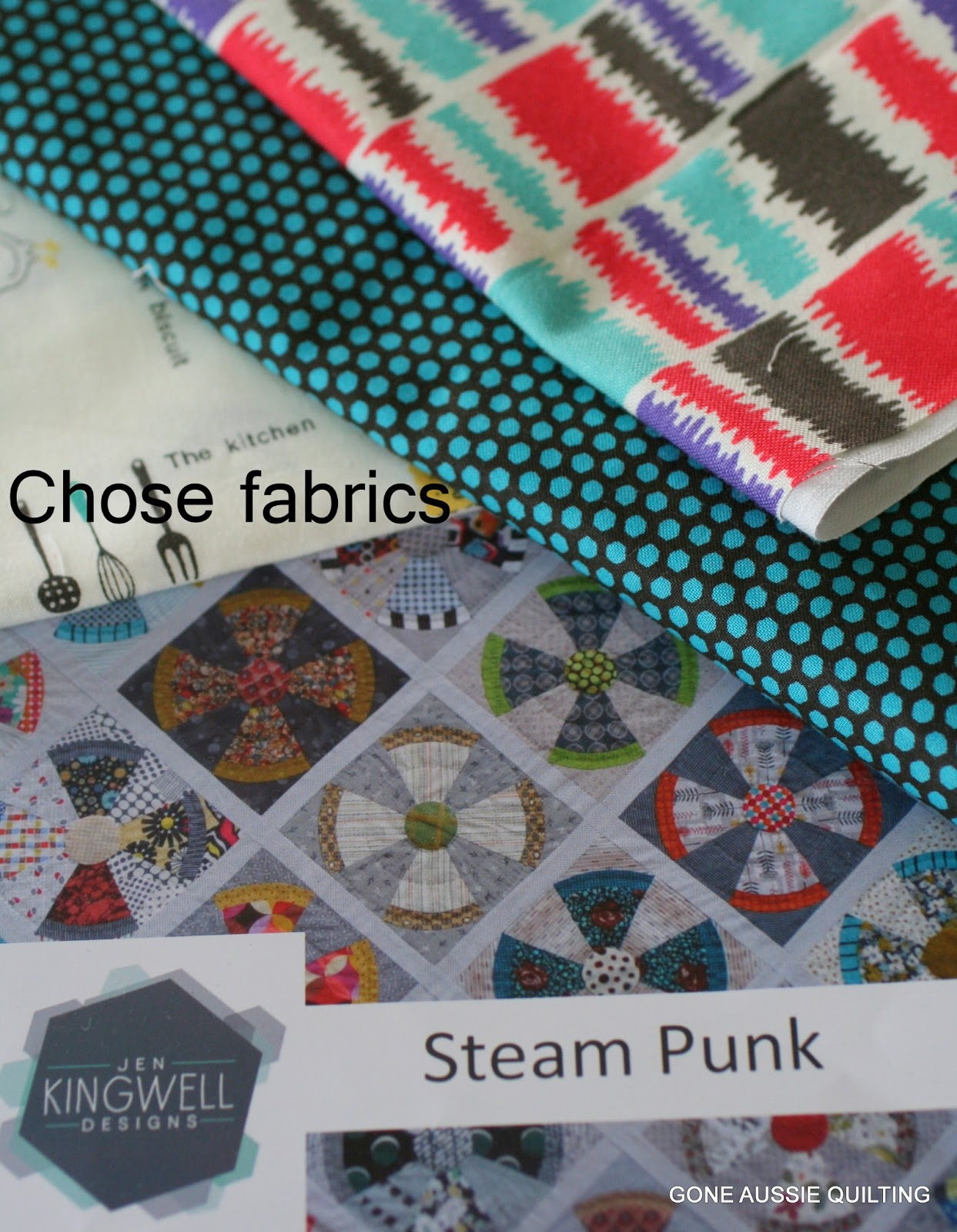 Gone Aussie Quilting: Steam Punk Ahead--Freezer Paper Template Tutorial