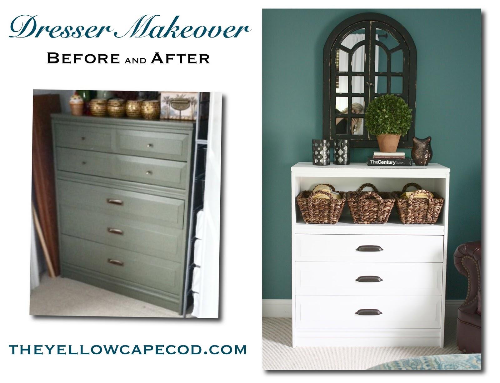 the yellow cape cod diy dresser makeover. Black Bedroom Furniture Sets. Home Design Ideas