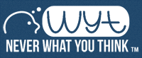 "What Mandy Thinks: ""Never What You Think"" blog logo, www.neverwhatyouthink.com"