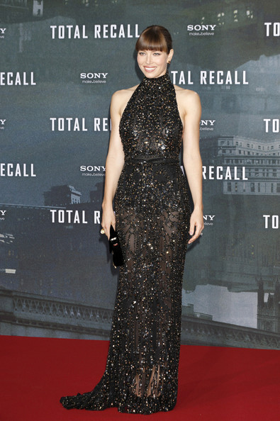 Jessica Biel at the Berlin premiere of her movie, 'Total Recall', held at the Sony Center in Berlin, Germany.