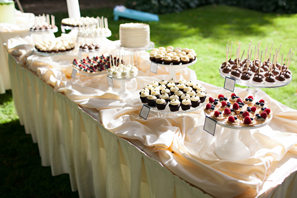 Outdoor Wedding Dessert Table Minneapolis