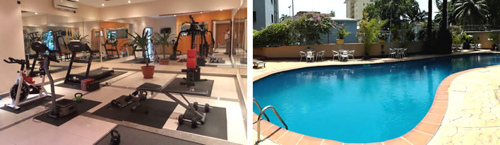 La Cour Boutique Hotels gym and swimming pool