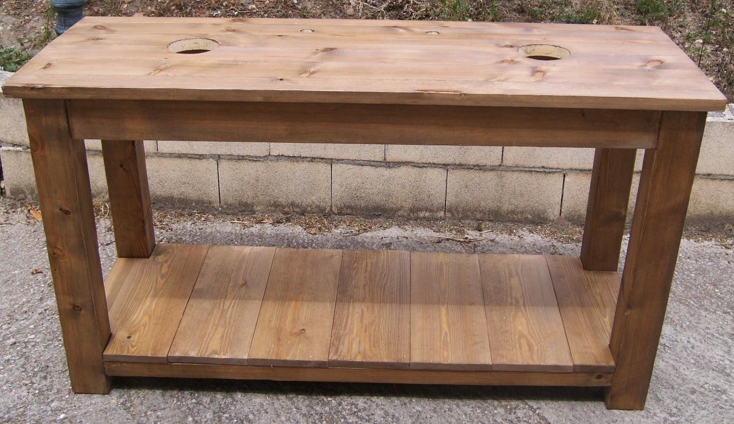 Mesa lavabo de madera: Diseño y estilo para el baño