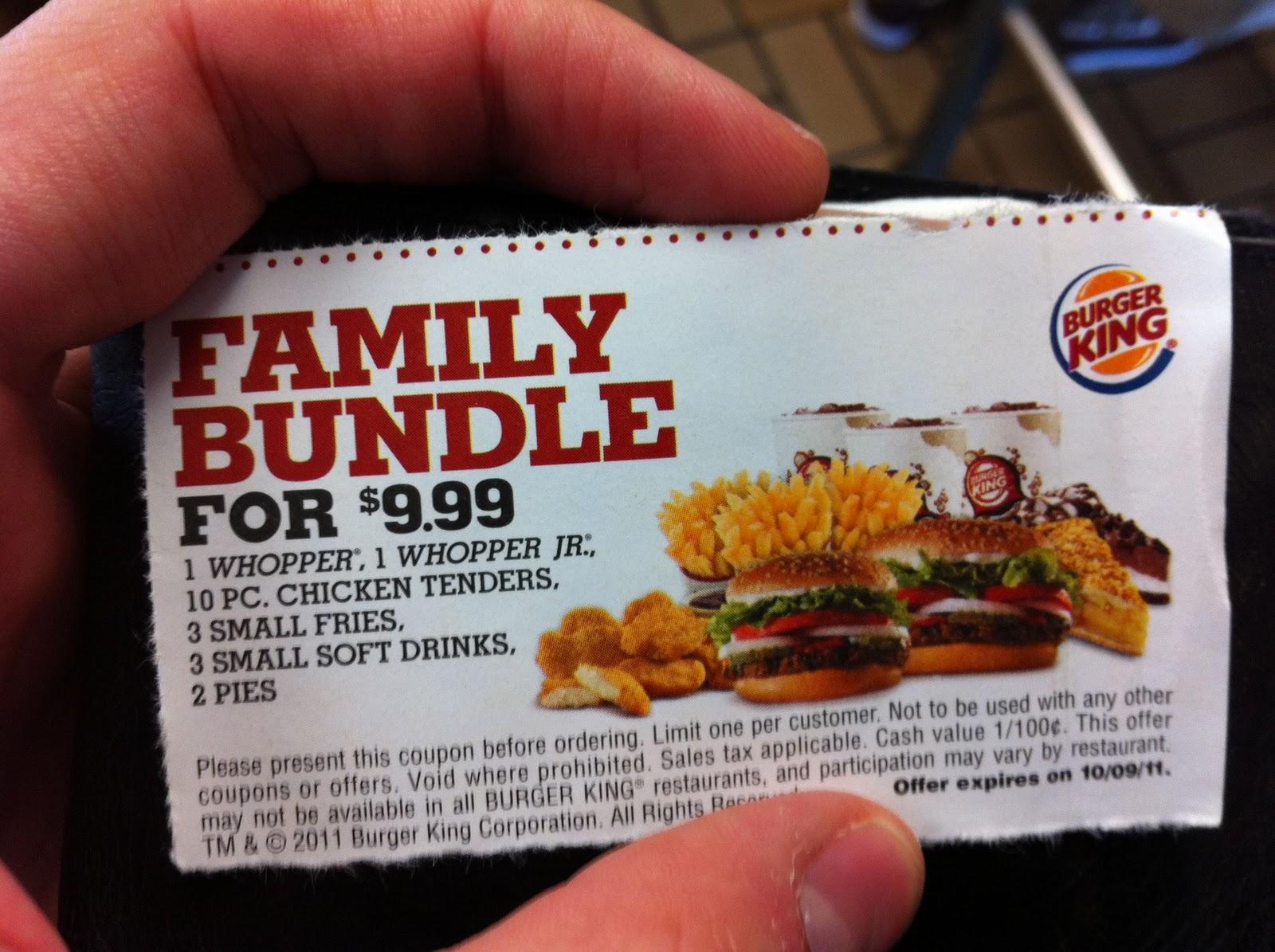 Burger king coupons es