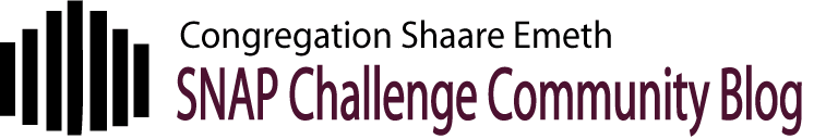 Congregation Shaare Emeth SNAP Challenge Community Blog
