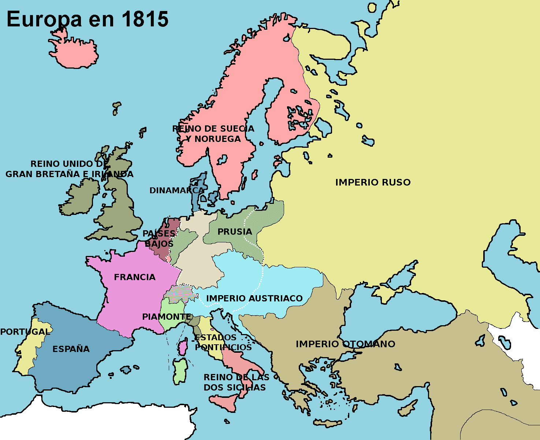 Mapa De Europa En 1815