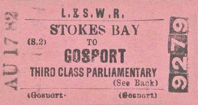LSWR Ticket