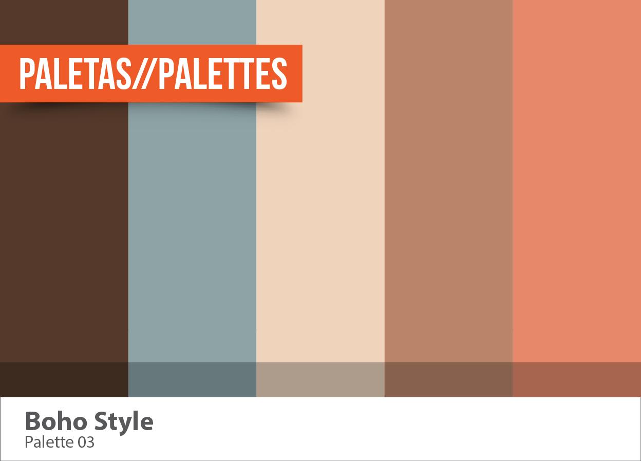 Inspiraci n crom tica boho style subcutaneo creative - Paleta cromatica de colores ...