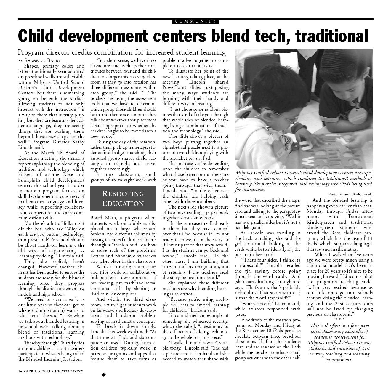 Child development writing