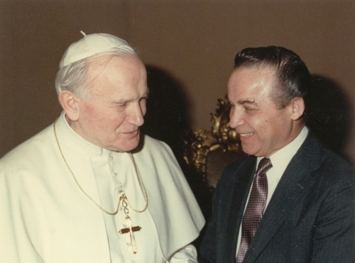 Dr. Kurland and Pope John Paul II
