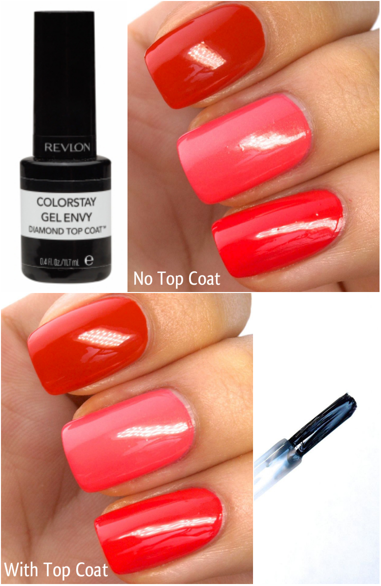 Revlon ColorStay Gel Envy Diamond Top Coat Review and Swatches