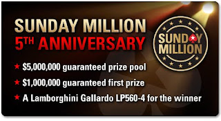 sunday millon 5º anniversary pokerstars
