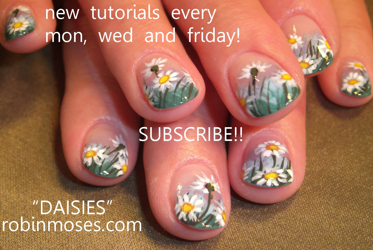 How to Paint Daisies on Nails