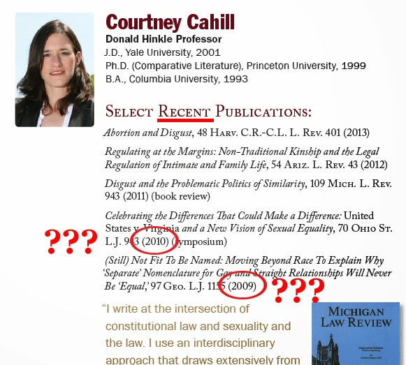 Florida State College of Law - Courtney Cahill - Select Recent Publications