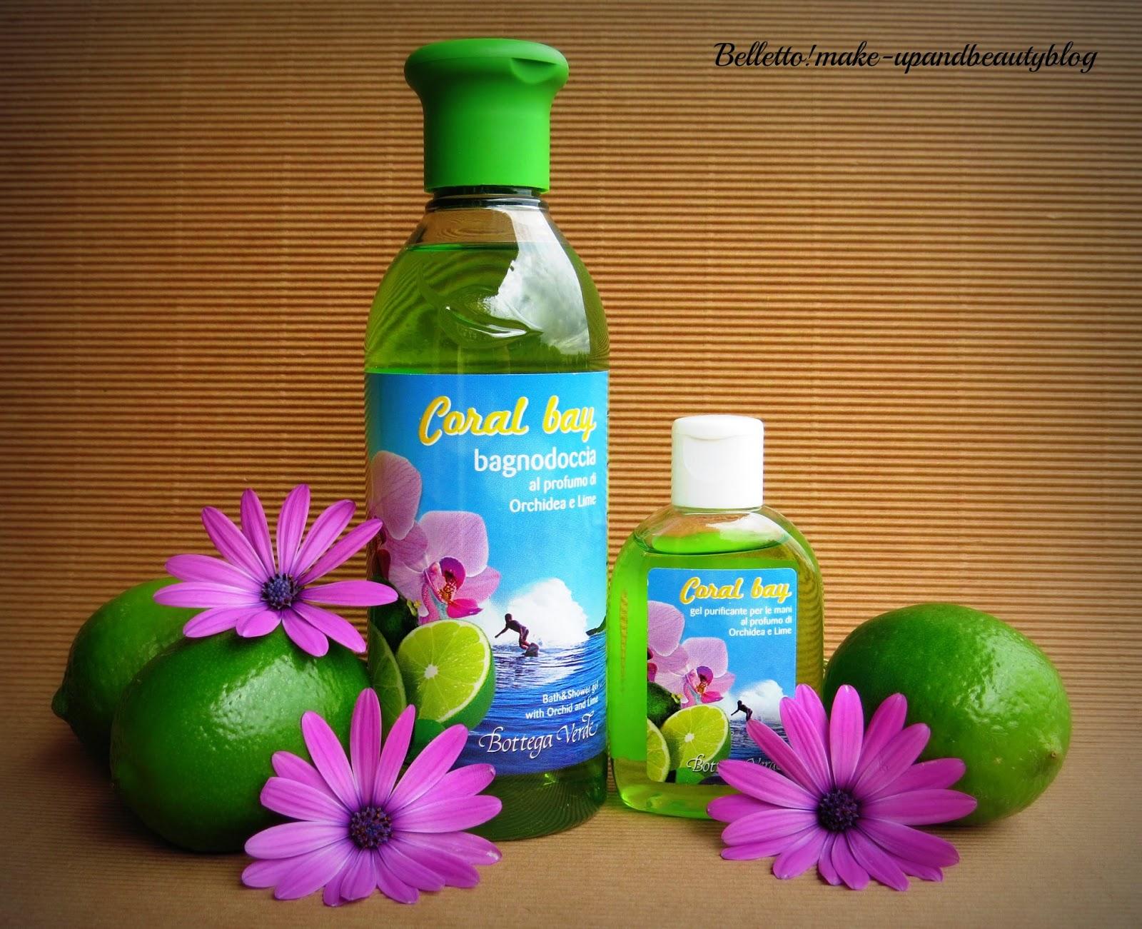 Bagno Doccia Bottega Verde : Belletto make up and beauty bottega verde coral bay