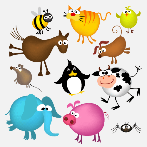 Locos animales cartoon - Vector