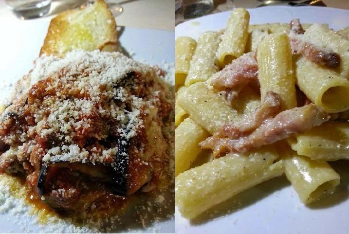 la parmigiana  e la  gricia